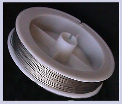 Tiger Tail Beading Wire (0.45mm) SILVER - 50 Metre Tigertail FREE POST