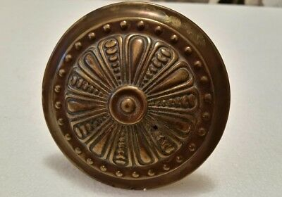 Large Antique decorative brass curtain tie back  pattern  (183H)