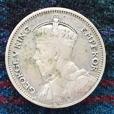 New Zealand 6d Sixpence 1934 - Nice VF, Silver