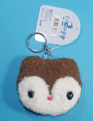 Rare Sanrio Landry's House (Raccoon) zippered coin purse Key Ring (1999)