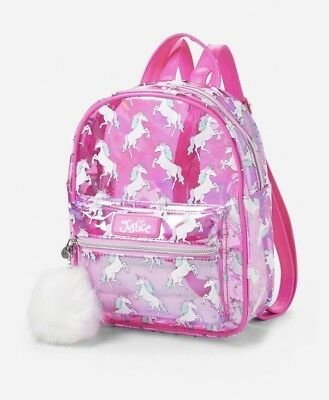 Justice transparent Unicorn Mini Backpack one Day Summer Sale!🏖🏖🏖