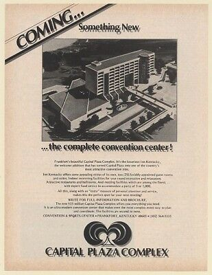 1979 Capital Plaza Complex Frankfort KY Complete Convention Center Print Ad