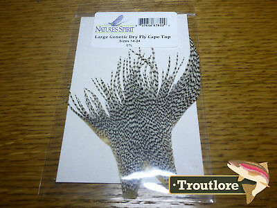 Nature's Spirit Genetic Dry Fly Hackle Cape Top - New Fly Tying Whiting Feathers