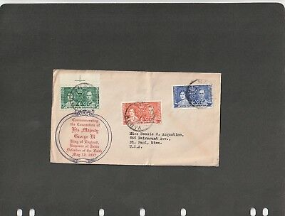 KENYA UGANDA TANGANYIKA  - FDC COVER CORONATION OF K. George VI