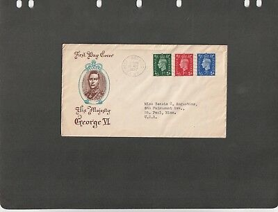 GREAT BRITAIN  - FDC COVER CORONATION OF K. George VI