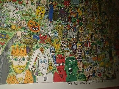"""James Rizzi  """"WE ALL HAVE SOMETHING TO OFFER """" 1998 3D Handsigniert 168/250 XL"""