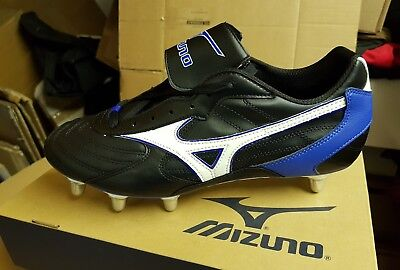 Mizuno Rugby Boots Six Nations Low St Black UK Size 13, Ref S54