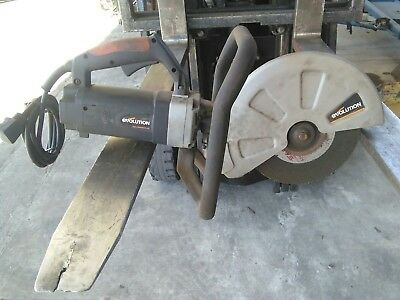 "12"" Evolution Electric Disc Cutter Cuts Concrete/Stone/Brick/Steel,DemolitionSaw"