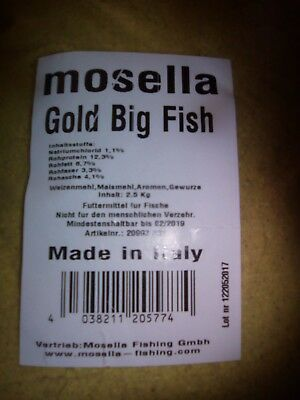 mosella Angelfutter   Gold Big Fisk      3 x   2,5 Kg