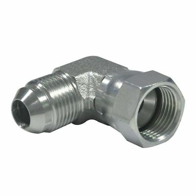 "6500-06-06  3/8"" MALE JIC  x 3/8"" FEMALE JIC 90 DEGREE SWIVEL FITTING"