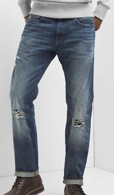 NWT Gap 1969 Selvedge destructed slim fit jeans with stretch, 32x32