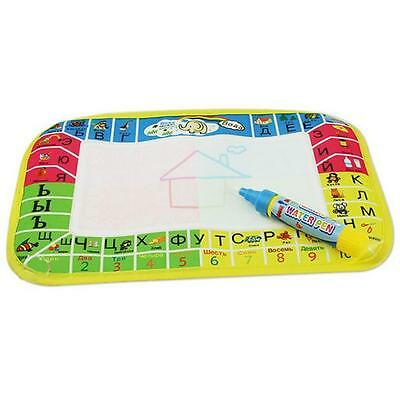 New Water Drawing Painting Writing Mat Board Magic Pen Doodle Toy Gift Free P&P
