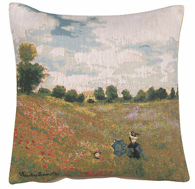 Cover Only Garden at Argenteuil House by Monet Woven Tapestry Cushion Cover