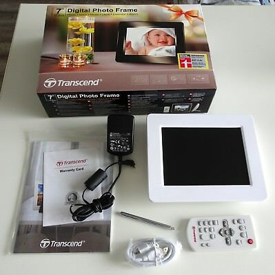 "Transcend 7"" Digital Photo Frame / 17,1 cm / 800 x 600 / 2 GB int. Speicher"