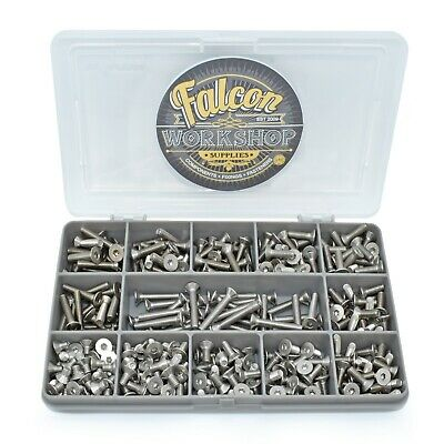 280 Assorted A2 Stainless Steel M4 Countersunk Csk Socket Caps Allen Bolt Kit