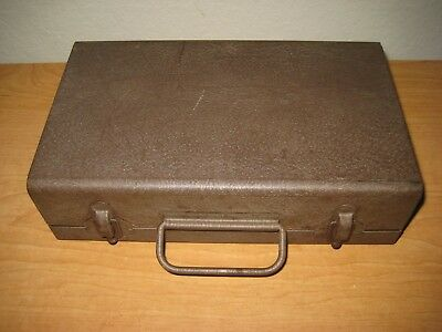 Vintage Brown Metal Storage Case / BERNARD Products / Coin Collection Box
