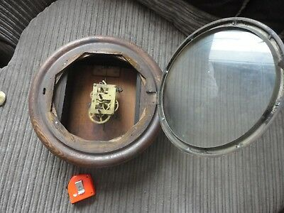 Vintage Station School OAK CLOCK  Spares Repair fusee Movement