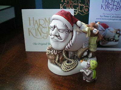 NEW Harmony Kingdom Mail Shot 2017 Santa & Miniature Reindeer UK Made SGN