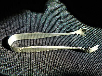 Antique Manchester Sterling Silver Sugar Ice Tongs; Marked