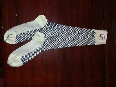 Vtg NWT 70s New Unused Knee High Socks Woolworth Tag