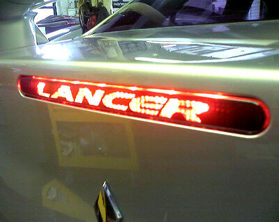 """3rd Brake light cover Decal Fits 2008-2015 Lancer """" you choose text"""" Sticker"""