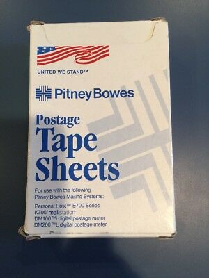 Genuine 300 Pitney Bowes Postage Tape Strips Meter E700 United We Stand #613-8