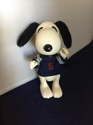 """Vintage 8"""" Snoopy Doll Plastic W/ Fuzzy Ears & Tail United Feature 1958, 1966"""