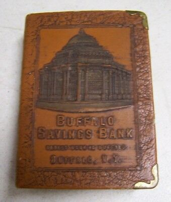 Vintage BUFFALO NY BUFFALO Savings Bank Book Shaped Moneybox Piggy Bank