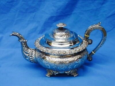 Ornate Silver Plated Teapot
