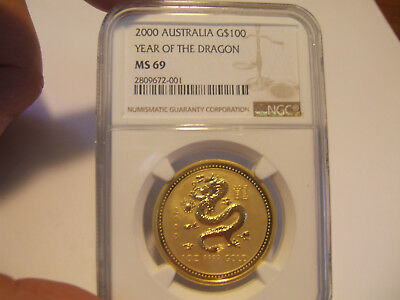 Year 2000 Australia NGC Graded 1 oz Dragon $10,000.00 YOU MUST READ THIS