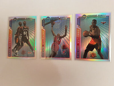 Roninson, Mourning, Mutombo 96/97 Topps MYST. BORDERED REFRACTOR  # M 9, 10, 11