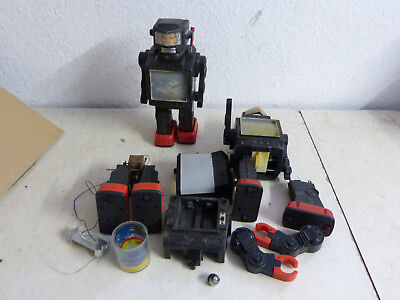 Super Space Explorer Walking Robot Hong Kong Vintage toy Konvolut Lot 70er Jahre