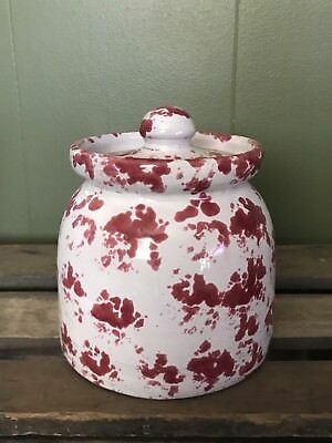 Bybee Pottery Small Cranberry Sponge Canister