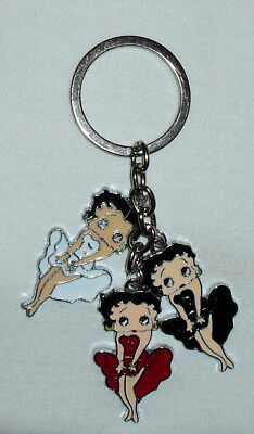 Betty Boop Keychain/Keyring Marilyn Pose White Red Black Handcrafted