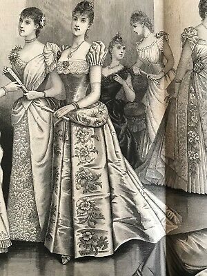 MODE ILLUSTREE SEWING PATTERN Dec 221889 - BALL GOWNS , Ice skating, Aprons