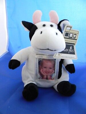 New Adorable10 Inch Plush Sitting Cow Photo/picture Frame