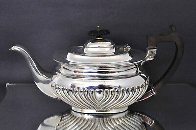 Vintage Sheffield Silver Plated Teapot Half Fluted EPBM by John Henry Potter