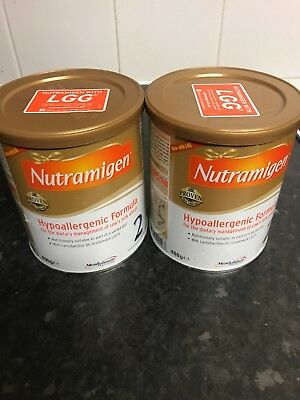 2 x Nutramigen 2 (400g) with LGG Brand New Sealed 6 to 12 months Hypoallergenic