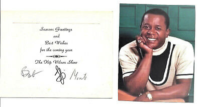 Flip Wilson Bob Henry Monte Kay- Specail Embossed Card Hand Signed By All.