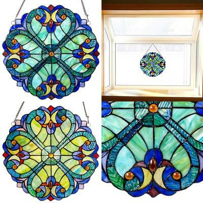 Stained Glass Panel Halston Mini 12 Inches Decorative Window Hanging Sun Catcher