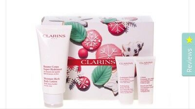 BNIB Clarins 'Body Care Collection' Winter essentials gift box set Xmas gift