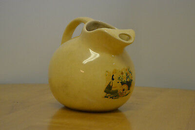 "Early Aged Pottery ""Ball Pitcher"" Ice Lip Beautiful Aged Surfaces American"