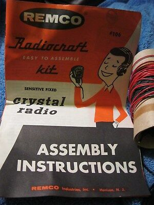 Vintage, Remco, Radiocraft Kit, Crystal Radio, #106