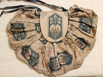 Antique Sewing Bag - Floral Cretonne Pattern, Hand Bag, Sewing/Knitting c. 1900