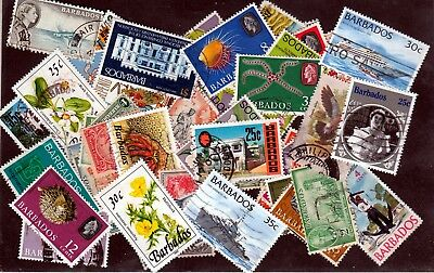 BARBADOS : PACKET- COLLECTION - All Different 50 Very nice stamps, Old and New.