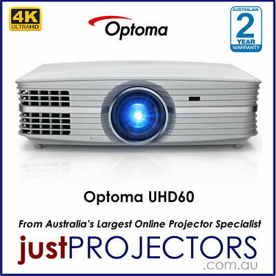Optoma UHD60 4K Home Theatre Projector from Just Projectors Australia. 2YR WRNTY