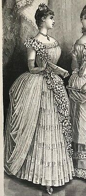 MODE ILLUSTREE SEWING PATTERN Dec 26,1886 - BALL GOWNS,