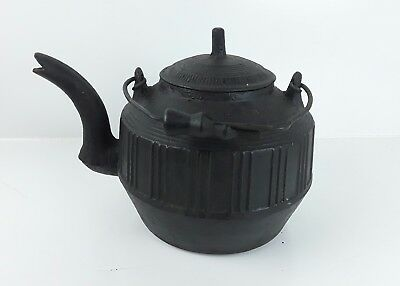 Antique Cast Iron Tea Kettle Primitive Camp Vintage