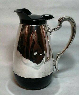 Rare Vintage Gorham Silver Pitcher Electro Plated Insulated Carafe Coffee Retro