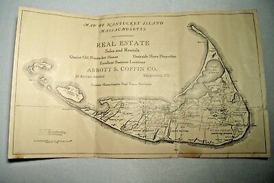 Ca 1920s Nantucket Map, Advertising